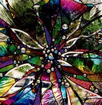 Stained Glass- i have a octagon window this would look amazing in!