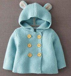 Yine çok şirin ve kolay bebek hırkası veriyoruz. İki tavşan kulakla miniklerimiz daha sevimli olacaktır. Daha fazla model ve fikir için örgü bebek hırkası modelleri sayfamızı dai inceley