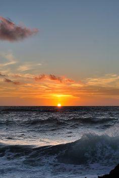 "atraversso: "" Sunset in Argentiera  by Pier Luigi Santoni """