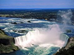 wow b amazing to see and hear these falls aerial_view_of_niagara_falls,_ontario,_canada Beautiful Places In The World, Beautiful Places To Visit, Niagara Waterfall, Places To Travel, Places To See, Travel Things, Niagara Falls Ontario, Canada National Parks, Les Cascades