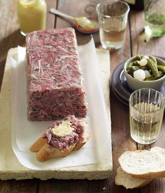 Australian Gourmet Traveller wine match recipe for pickled pork and parsley terrine. Pickle Pork Recipe, Pickled Pork Hock Recipe, Pate Recipes, Terrine Recipes, Sashimi, Tapenade, Ceviche, Sausage Recipes, Sauces