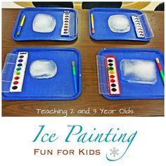 Ice painting for kids - a refreshing painting activity any time of the year.
