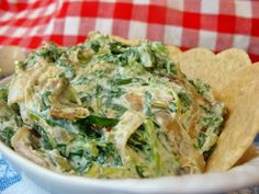 Swap out salty artichoke dip for this low-sodium spinach and leek dish.