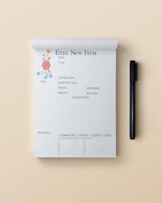 New Product Notepad by KaufmanArt on Etsy