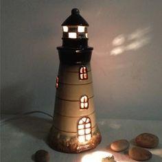 Ceramic Lighthouse Lamp   Поиск в Google