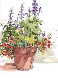 Planting Weekend by Shari Blaukopf #watercolor