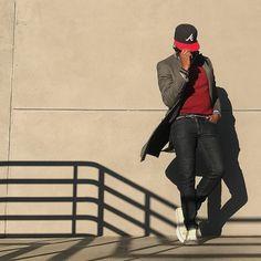________176.  heartlessly wielding power  Wool TopCoat / @Zara  Atlanta Braves Snap Back / @neweracap  Merino Wool Sweater / @Jcrew  Window Pane Shirt / @Jcrew Club Master Sunglasses / @RayBan  Skinny Jeans / @UniqloUSA Canvas Belt / @Jcrew Vintage Leather Sneakers / @Converse  Bracelets / @OurSaints Weekender Time Piece / @Timex