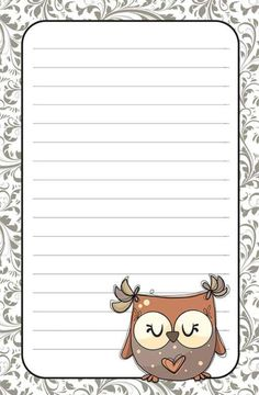 Note Paper, Paper Toys, Free Printables, Stationary, Scrap, Owl, Bible, Clip Art, Diy Crafts