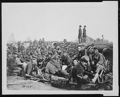 In the trenches before Petersburg, Va., 1865.  Fort Lee, VA
