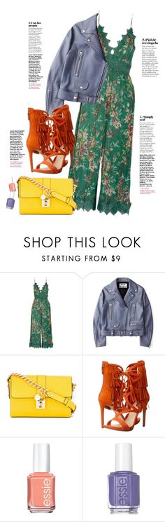 """""""Colors of Spring"""" by elise-gehrke ❤ liked on Polyvore featuring Zimmermann, Acne Studios, Dolce&Gabbana, GUESS and Essie"""