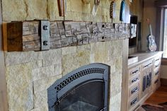Reclaimed Fireplace Mantle ♥♥♥♥ i want this one