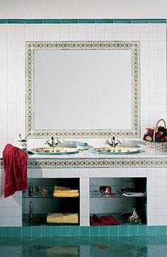 30 fantastiche immagini su ceramiche maioliche mosaici for Maioliche bagno