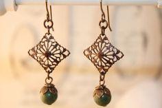 Filigree. #earrings #jewelry #brass #vintage