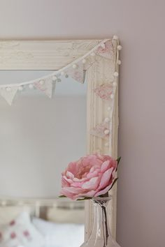 We Made This Home: Peony and Sage Pompom Bunting