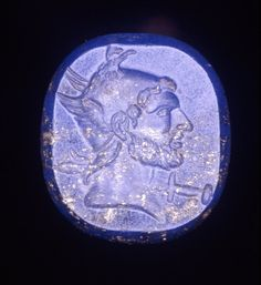 The last King of ancient #macedonia ,  #Perseus Chief of the #macedonian #army at the #battle of pydna. The Carver depicts him in this semi-precious stone ( #lapislazuli ) as the ancient hero Perseus son of Zeus and Danae.