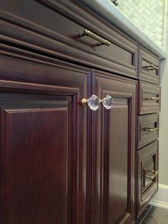 Crystal And Brass Kitchen Cabinet Knob, Cabinet Pull, Cabinet Hardware,  Emtek, Top