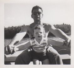 Digital Scan Father and daughter in a rowboat 1 by delphiniumsblue, $2.00