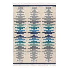 Arte Espina Helix 120x180cm Kilim Rug, Blue