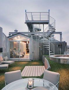 Robert Kahn New York roof folly