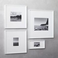 Shop Gallery White Picture Frames. Exhibit Your Favorite Photos Gallery  Style. Creating A Display Of Modern Proportions, Oversized White Mat Floats  Within A ...
