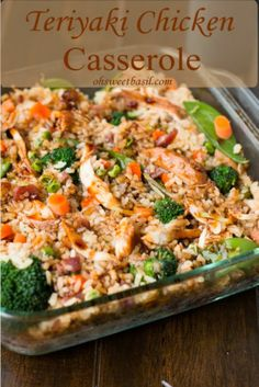 Teriyaki Chicken Casserole... tried this recipe and was absolutely amazing! We did double up on the sauce though
