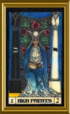The High Priestess. Divination Cards, Tarot Cards, Haida Art, Tarot Major Arcana, Oracle Cards, Tarot Decks, Wisdom, Christian, Ink