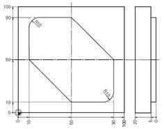 CNC Programming Examples - G02 G03 R | CNC Programming