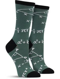 And you thought you left calculus in college. Whether math is your forte or your arch nemesis, this unique pair of socks is sure to bring back plenty of memories of crunching numbers and tapping into