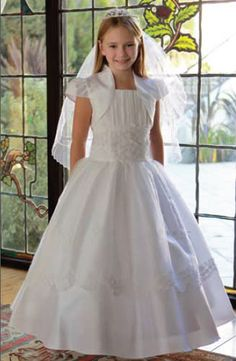 White Organza First Communion Dress by Elitedresses.com
