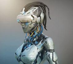 """ArtStation - VR Cyber Girl """"3D World Cover"""", Richie mason"""