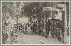 Front Street was a popular gathering place for Norwalk, California  residents during the 1890's