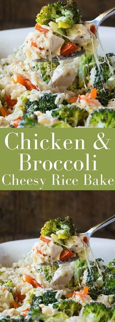 Healthy lightened up Gluten Free Broccoli Casserole with Chicken, Rice and Cheese, only 431 calories per serving!!