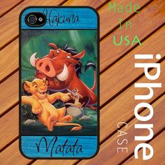 HAKUNA MATATA New HKM 05 iphone 4 and 4s Black or White Case Made In United States. $18.99, via Etsy.