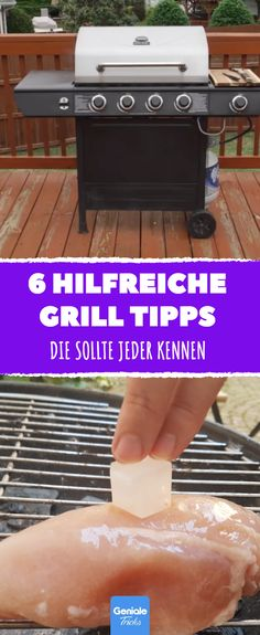 an ice cube on your meat when grilling. - 6 really helpful tips for the barbecue party. 6 really helpful tips -Place an ice cube on your meat when grilling. - 6 really helpful tips for the barbecue party. 6 really helpful tips - How To Clean Bbq, Clean Grill, Grill Cleaning, Smoked Beef Brisket, Smoked Pork, Grill Weber, Best Portable Grill, Best Homemade Burgers, Healthy Burger Recipes