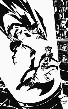 Batman and Catwoman by Chris Samnee *