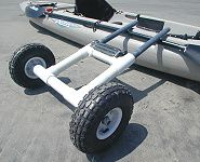 new project: boyfriend and i will be making these kayak carts, so clever!