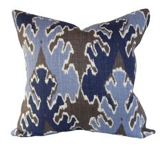 Kelly Wearstler Indigo Grey Bengal Bazaar Pillow Cover - Lee Jofa Groundworks - Decorative Pillow - Solid Cream Back - ALL SIZES AVAILABLE by PillowTimeGirls on Etsy https://www.etsy.com/listing/261197163/kelly-wearstler-indigo-grey-bengal