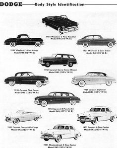 171 best dodge 1950 1955 images on pinterest antique cars 1951 dodge body styles publicscrutiny Choice Image