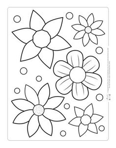 Printable Easter Coloring Pages For Kids – Coloring Flowers coloring Free Easter Coloring Pages, Printable Flower Coloring Pages, Spring Coloring Pages, Easter Colouring, Coloring Book Pages, Coloring Pages For Kids, Kids Coloring, Simple Coloring Pages, Fairy Coloring
