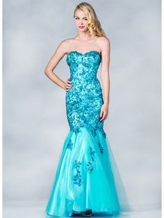 Lace and Sequin Prom Dress Medium Image