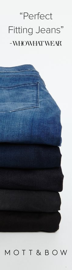 Mott & Bow - your perfect jeans, at a fair price. Use code 'P15' for 15% off your first purchase!