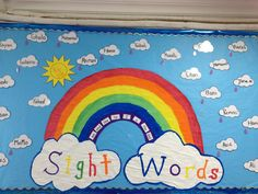 My amazing rainbow of sight words. If they know all the words on the purple arc. They get a purple rain drop. And the same applies to the others. I love it and so do the kids.
