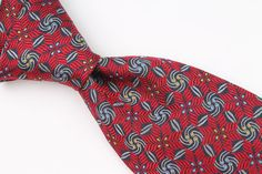 ROBERT TALBOTT BEST OF CLASS Dark Red Grey Navy mens Silk Tie #RobertTalbott #Tie