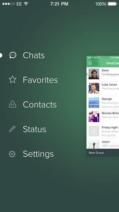 WhatsApp iOS 7 Redesign by Saffad Khan
