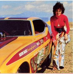 Shirley Muldowney Funny Car. I met her when I worked the Seattle race in 05. She wasn't racing of course.