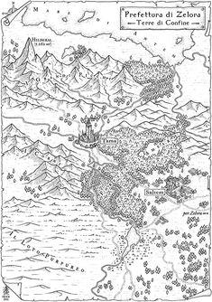 Fantasy Map Making, Fantasy World Map, Fantasy Art, Map Sketch, Sketches, Old Maps, Antique Maps, Vintage Maps, Rpg Map