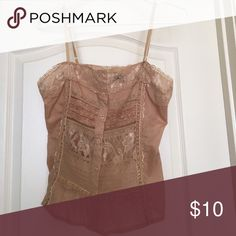 Delicate lace and beaded tank top Gorgeous little tank in excellent condition from a non-smoking home Tops Tank Tops