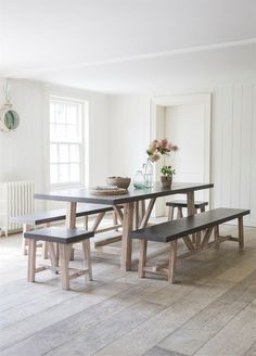 This Chilson Table and Bench Set with 2 Stools is crafted from Cement Fibre and Acacia Wood. Hard Wearing, Light and Super Stylish! From Garden Trading