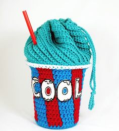 Free Crochet Slushie Drawstring Bag Pattern via @Michaels Stores and @Twinkie Chan