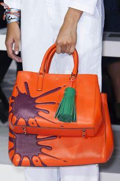 sac à main original en cuir orange par Anya Hindmarch
